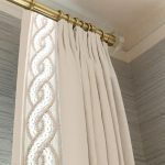 Trim Lined designer Window treatment french drapery (2)