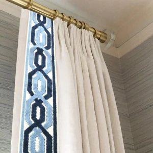 Window treatment french drapery