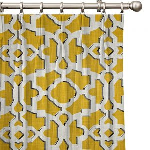 Window treatment french drapery lining